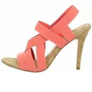 Ivanka Trump Acadia Pink Stappy Elastic Heels